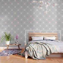 Blush Taupe Geometric Mandala Wallpaper