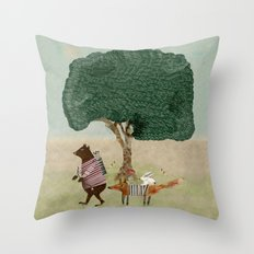 summers adventure Throw Pillow