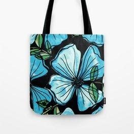 Blue flowers romantic garden Tote Bag
