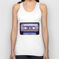 tape Tank Tops featuring Mix Tape # 10 by Bianca Green