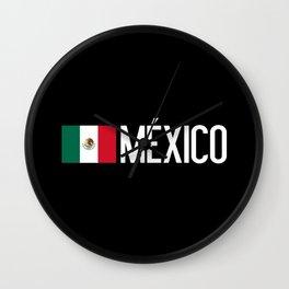 Mexican Flag & México Wall Clock