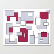 Squares - purple, gray and white. Canvas Print