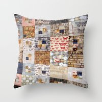 quilt Throw Pillows featuring Quilt by Shenreice