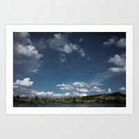 The cottage on the shore Art Print