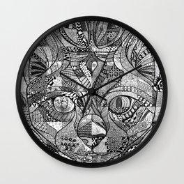 Kitty Face Wall Clock