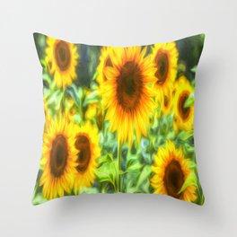 Sunflowers Memories Throw Pillow