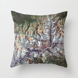 Arizona's Grand Canyon Satellite Photograph Throw Pillow
