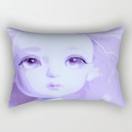 Lavender Big Eye Little Girl European Rectangular Pillow