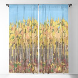 Wisconsin woods Sheer Curtain