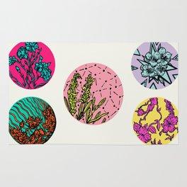 Floral Disks Rug