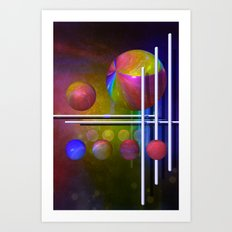geometric decoration -3- Art Print
