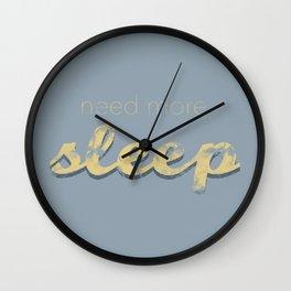 Sleep deprived Wall Clock