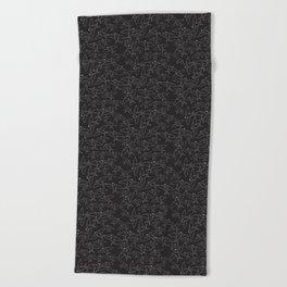 Sparrows (Black and White Birds) Beach Towel