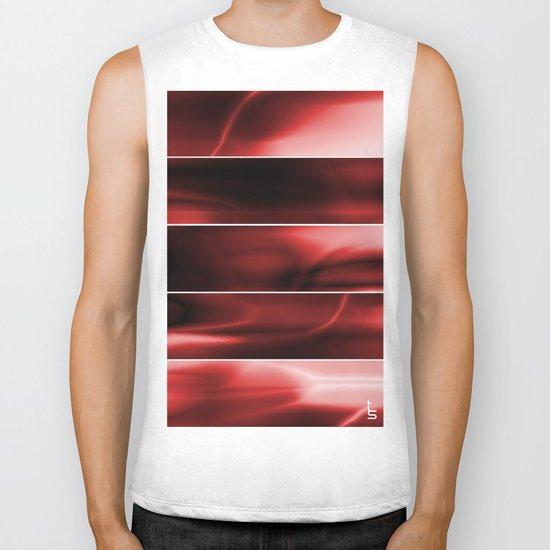 Red Plasma Storm (Five Panels Series) Biker Tank