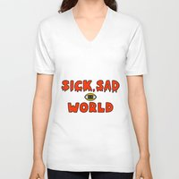 daria V-neck T-shirts featuring Daria Sick and sad world by Komrod
