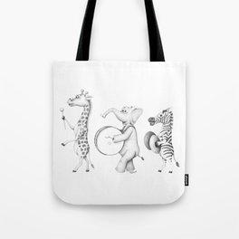 Safari Animal Parade Tote Bag