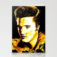 elvis presley Stationery Cards featuring Elvis Presley by GittaG74