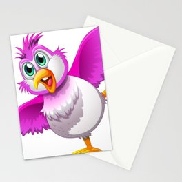 A Cute Colorful Bird Stationery Cards