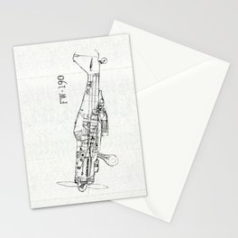 FW - 190 ( B & W) Stationery Cards