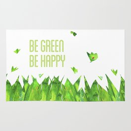 Be green, be happy Rug