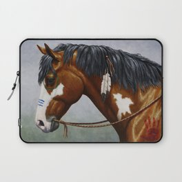 Bay Pinto Native American War Horse Laptop Sleeve
