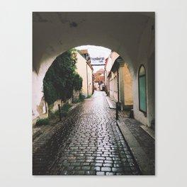 Visby Street Canvas Print