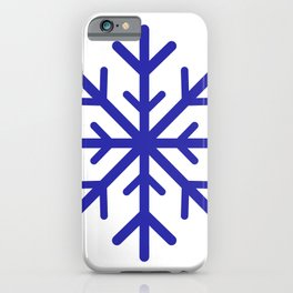 Snowflake (Navy Blue & White) iPhone Case