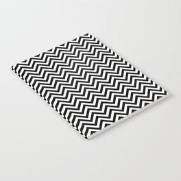 Black and White Chevron Notebook