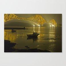 Forth Road Bridge, at night Canvas Print