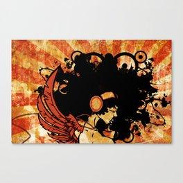 Rebel Lady Canvas Print