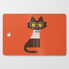 Fitz - Preppy cat Cutting Board