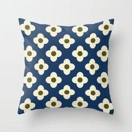 Retro Floral Pattern Scandinavian Throw Pillow