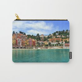 Menton Harbour View Carry-All Pouch