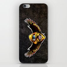 Happy Cycloptic Dog Eagle with a Stache (scratch back) iPhone & iPod Skin