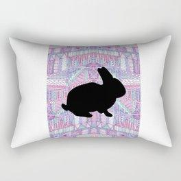 Rabbit Pattern Rectangular Pillow