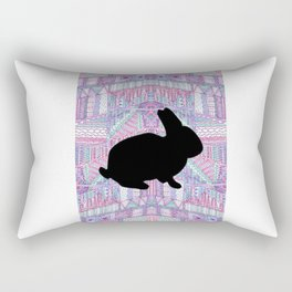 Rabbit Pattern Rectangular Pillow