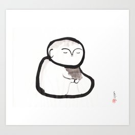Buddha Meditating Art Print