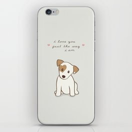 Heart spotted jack Russell Terrier Dog iPhone Skin