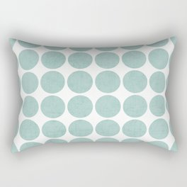 robins egg blue dots Rectangular Pillow