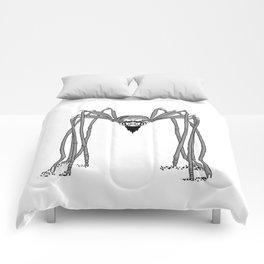 spider . black and white . art Comforters