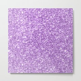 Purple Glitter Metal Print