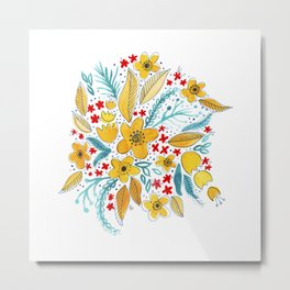 Petite Bouquet Metal Print