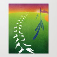 league Canvas Prints featuring Cactus League by Peter Chen