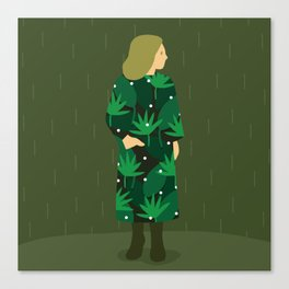 Waiting for spring rain Canvas Print