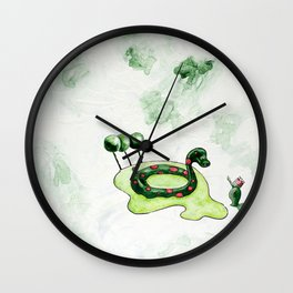 The Lake Monster Wall Clock