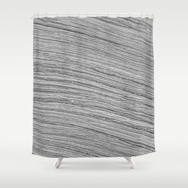 Grayscale Water Texture Shower Curtain