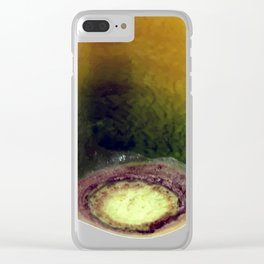yello carrot top vegetable portrait Clear iPhone Case