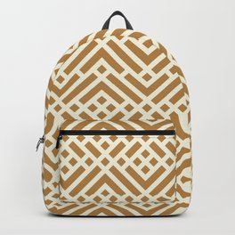 Golden Intricate Geo Backpack