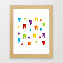 Colorful Sweet tooth Framed Art Print