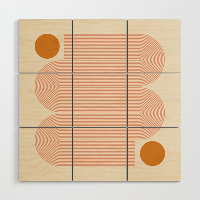 Abstraction_SUN_LINE_ART_Minimalism_002 Wood Wall Art